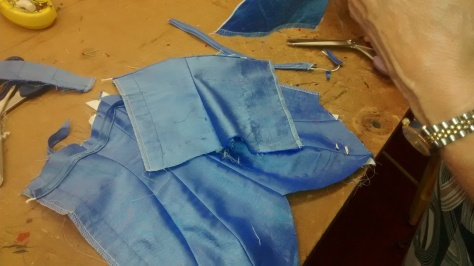 The tiniest bodice coming together