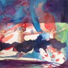 Acrylic on paper, Jane Denman