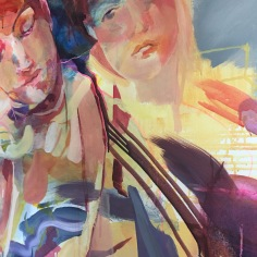 Section of big painting Jane Denman